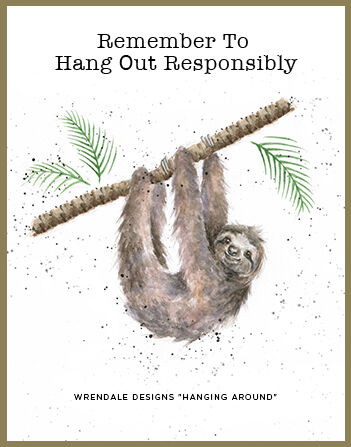 Royal Worcester Wrendale Designs MUG 14 OZ HANGNG AROUND(SLOTH)
