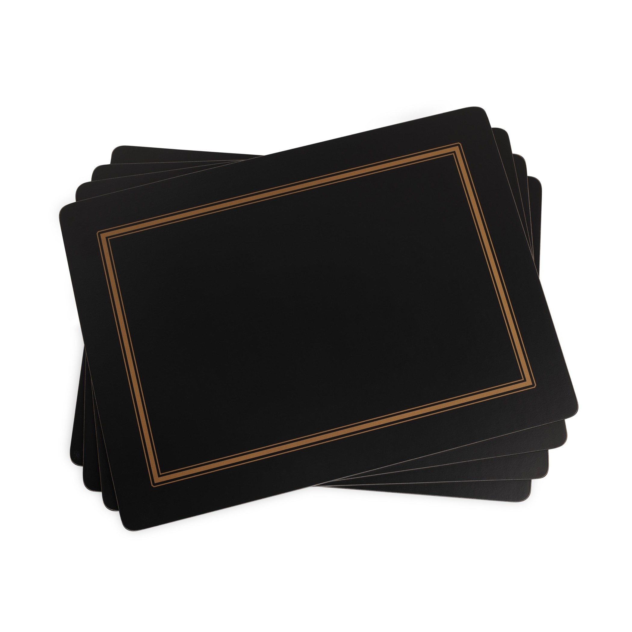 Pimpernel Classic Black Placemats Set of 4 image number 0