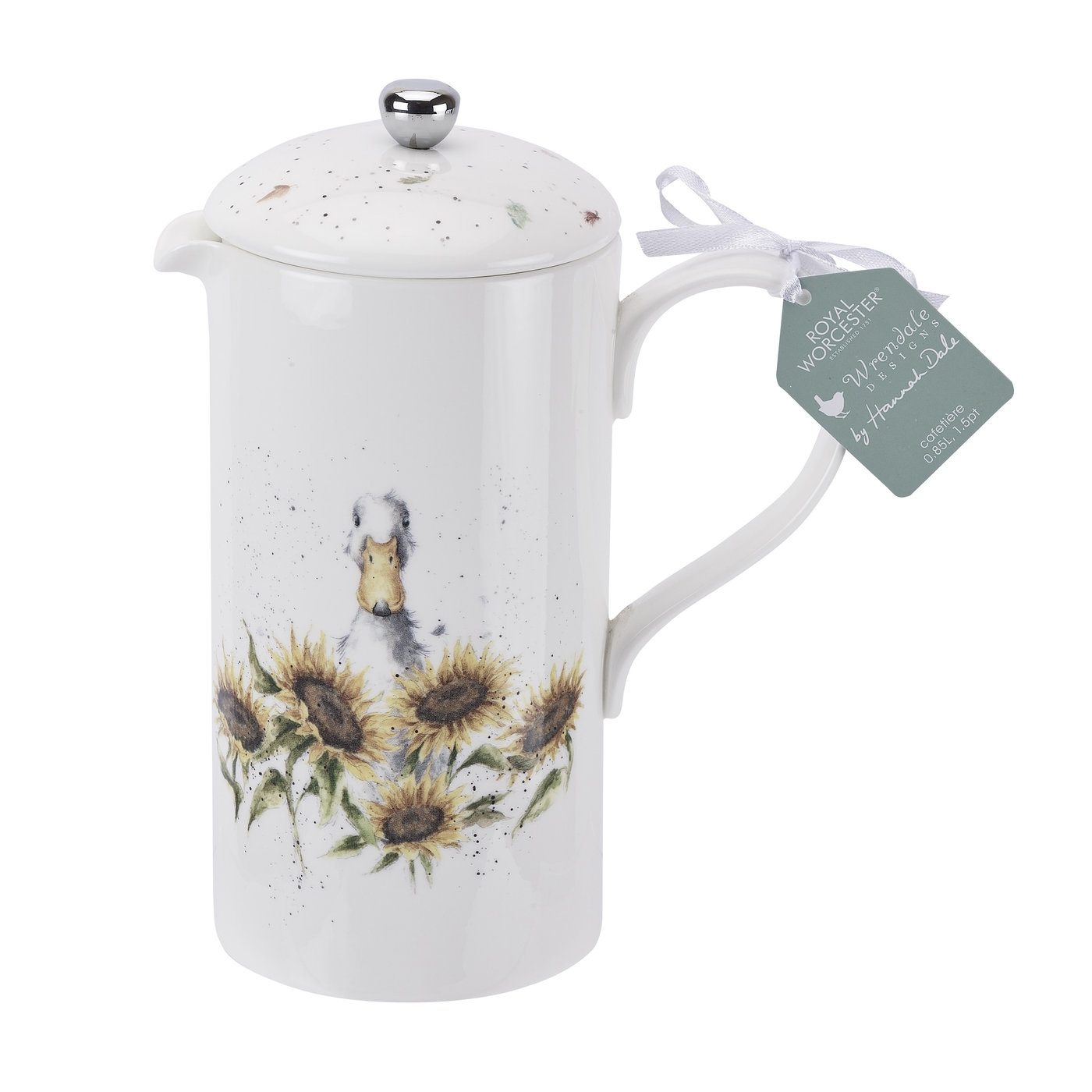 Royal Worcester Wrendale Designs 1.5 Pint Cafetiere (French Press) image number 0