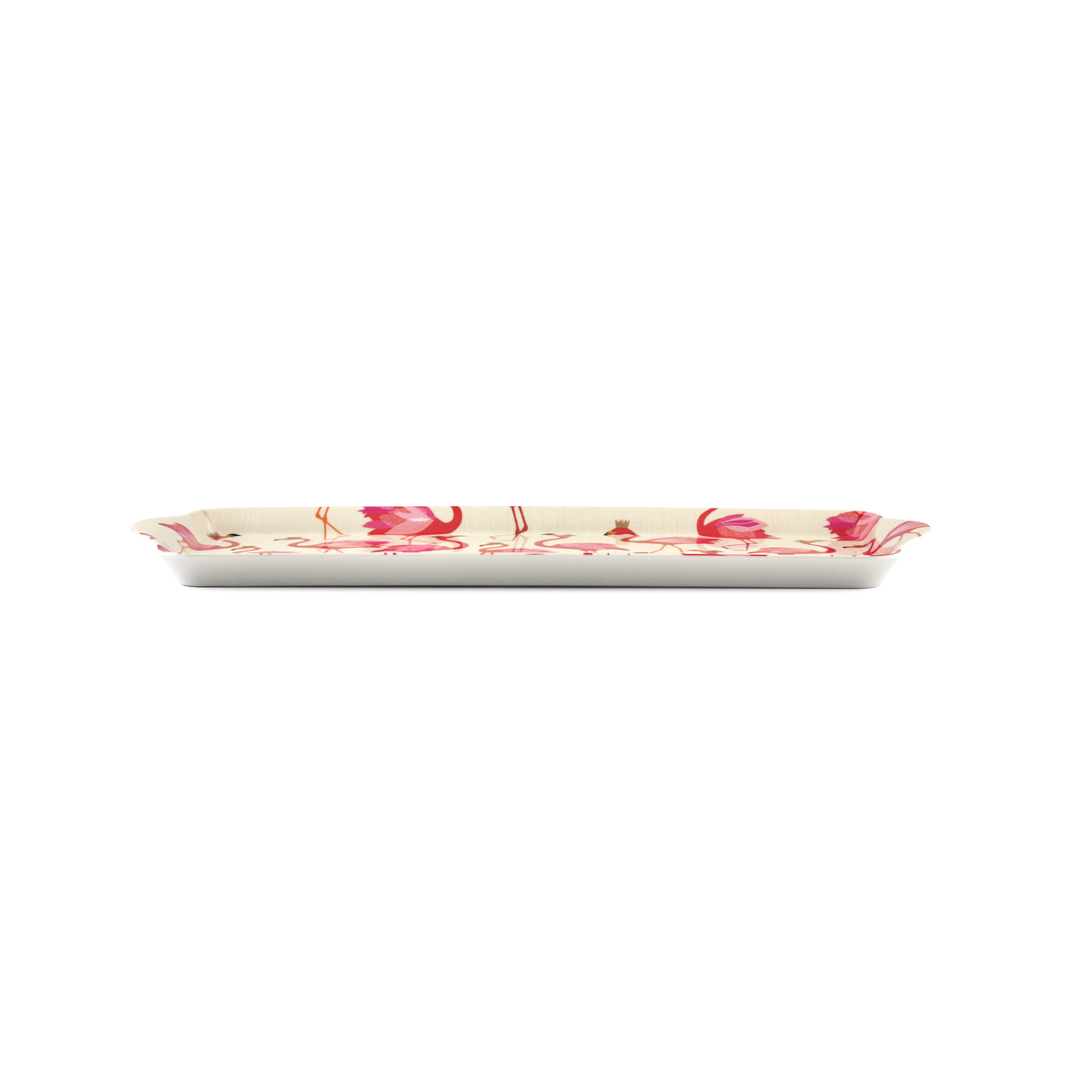 Sara Miller London for Pimpernel Flamingo  Melamine Sandwich Tray image number 2