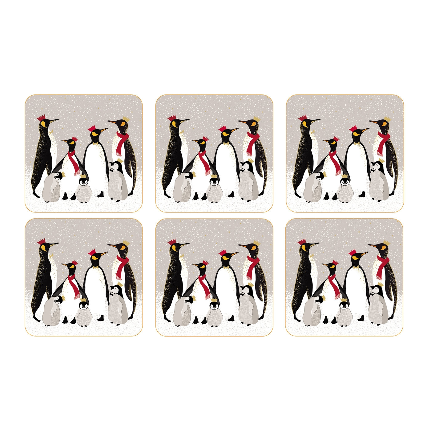 Pimpernel Sara Miller London Penguin Coasters Set of 6  image number 0