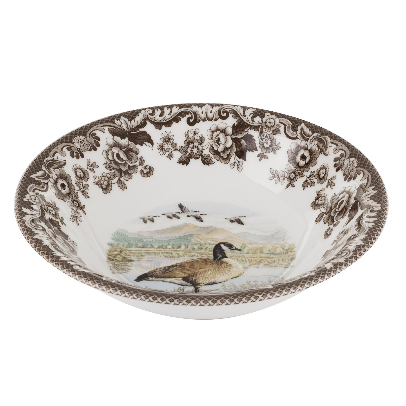 Spode Woodland Ascot Cereal Bowl 8 Inch (Canada Goose) image number 0