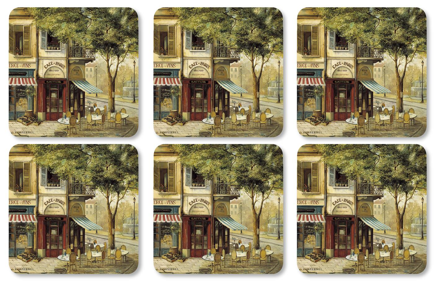 Pimpernel Parisian Scenes Coasters Set of 6 image number 0