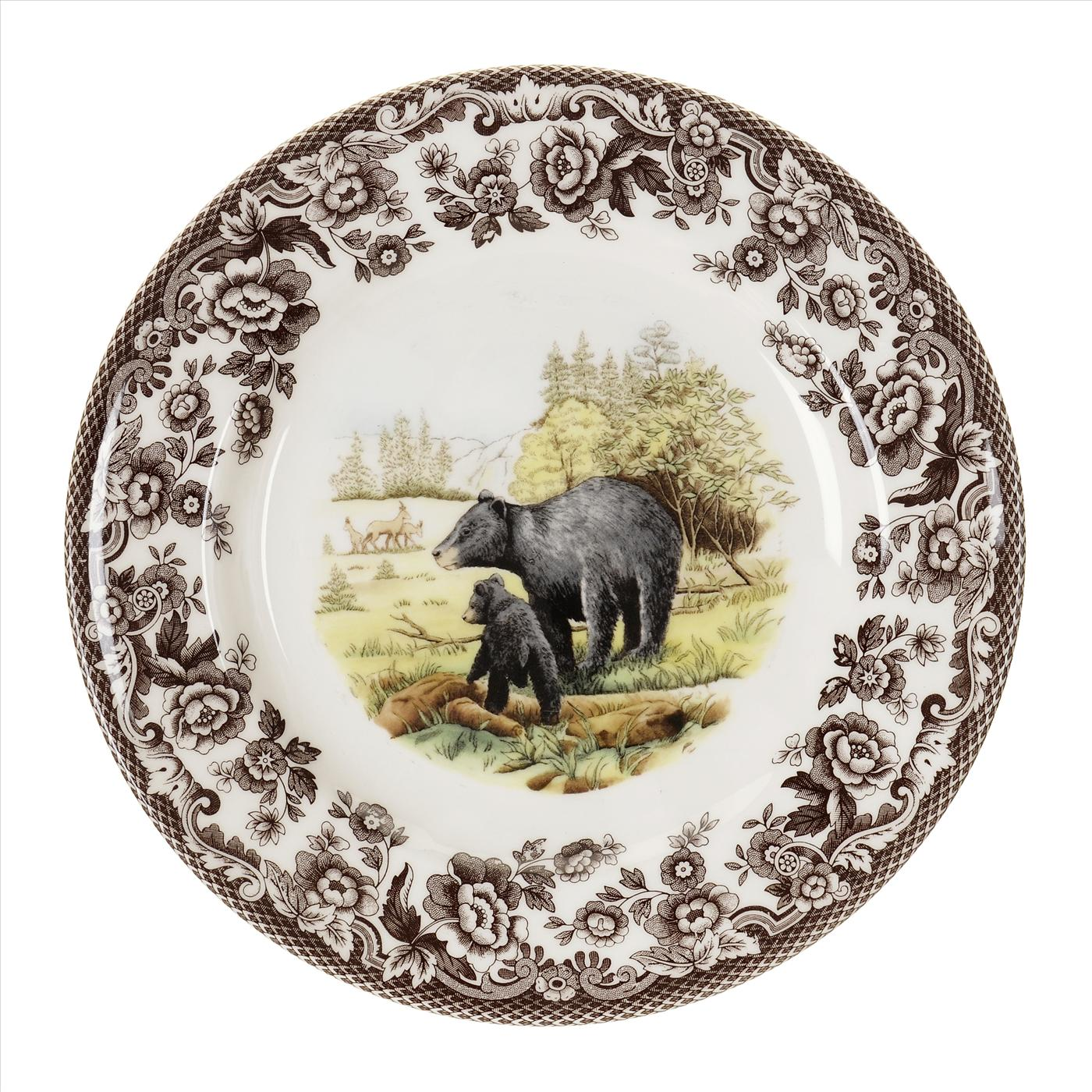 Spode Woodland Salad Plate 8 Inch (Black Bear) image number 0