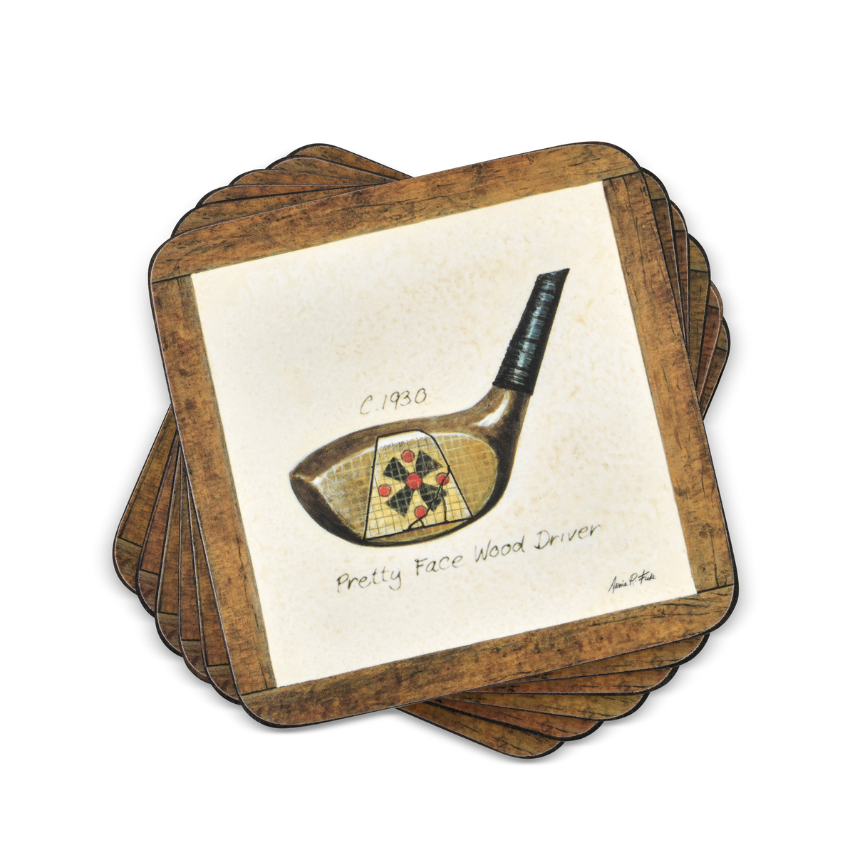 Pimpernel A History of Golf Coasters Set of 6 image number 0