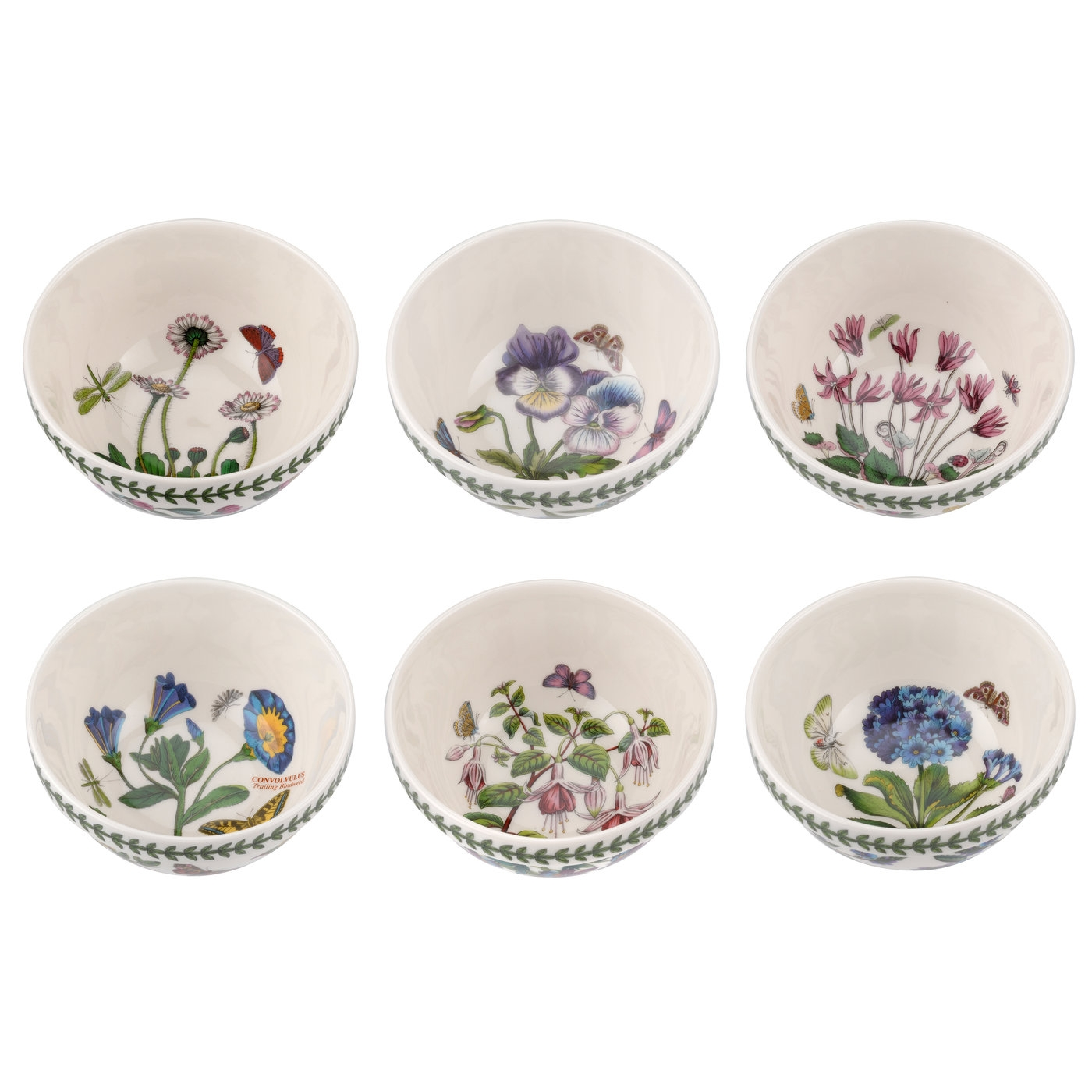 Botanic Garden 5.5 Inch Stacking Bowl Set of 6 (Assorted Motifs) image number 0