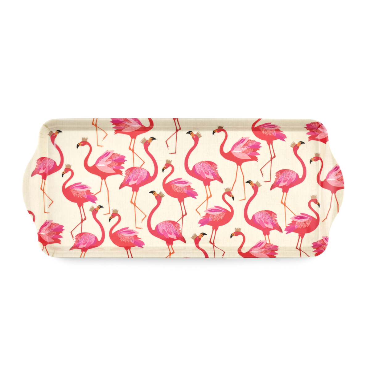 Sara Miller London for Pimpernel Flamingo  Melamine Sandwich Tray image number 0