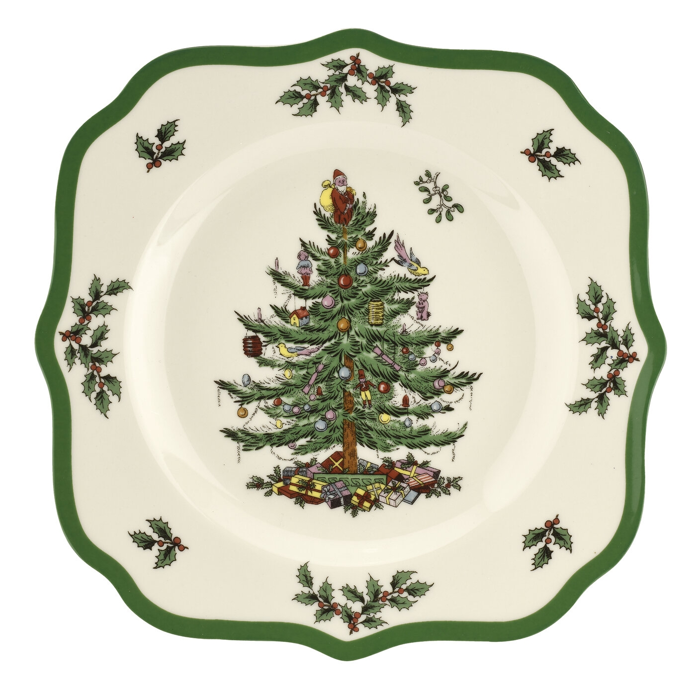 Spode Christmas Tree 2019 Scalloped Salad Plate 9 Inch image number 0