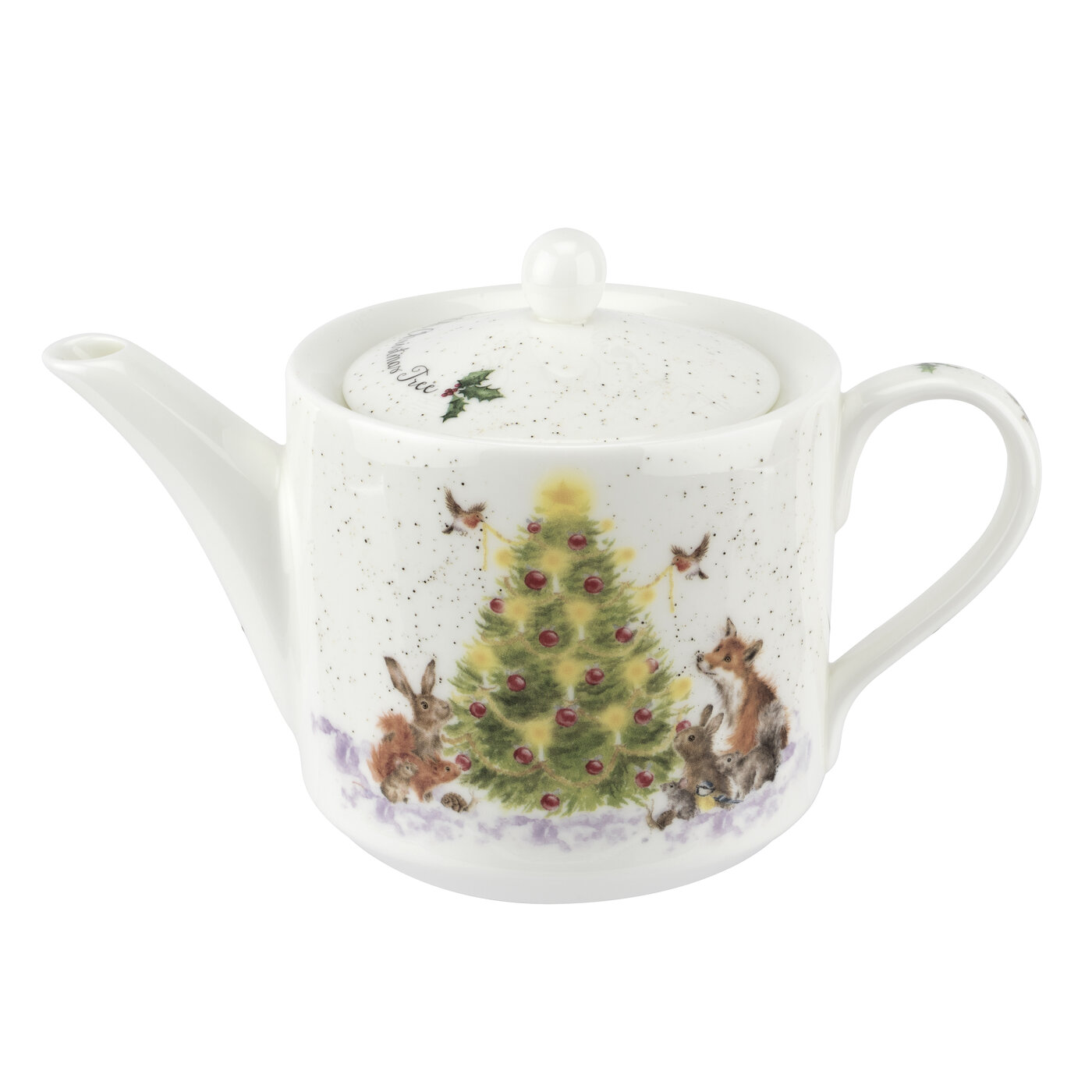 Royal Worcester Wrendale Designs Teapot 1 Pint (Oh Christmas Tree) image number 0