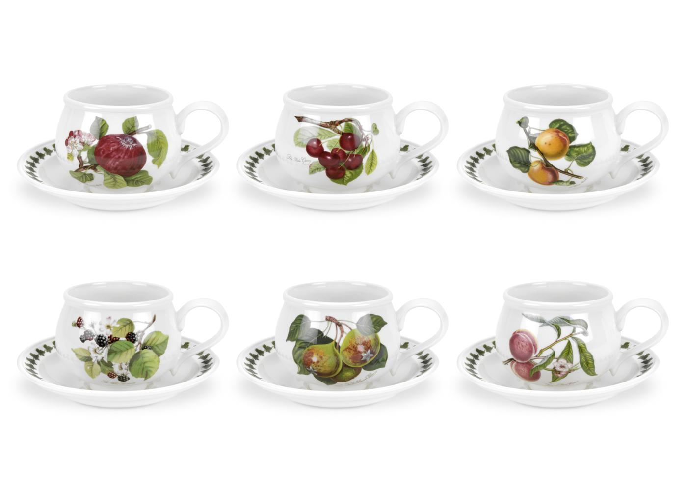 Portmeirion Pomona Set of 6 Breakfast Cups and Saucers image number 0