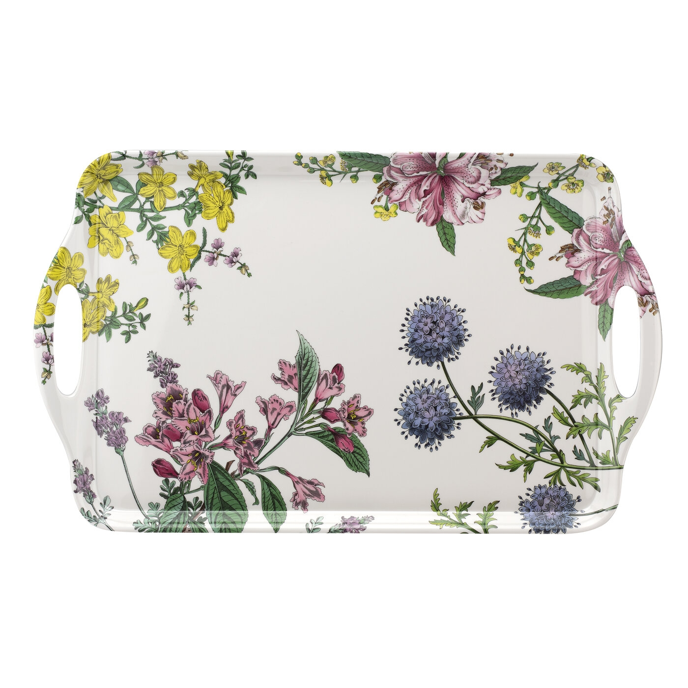 Pimpernel Stafford Blooms Large Melamine Handled Tray image number 0
