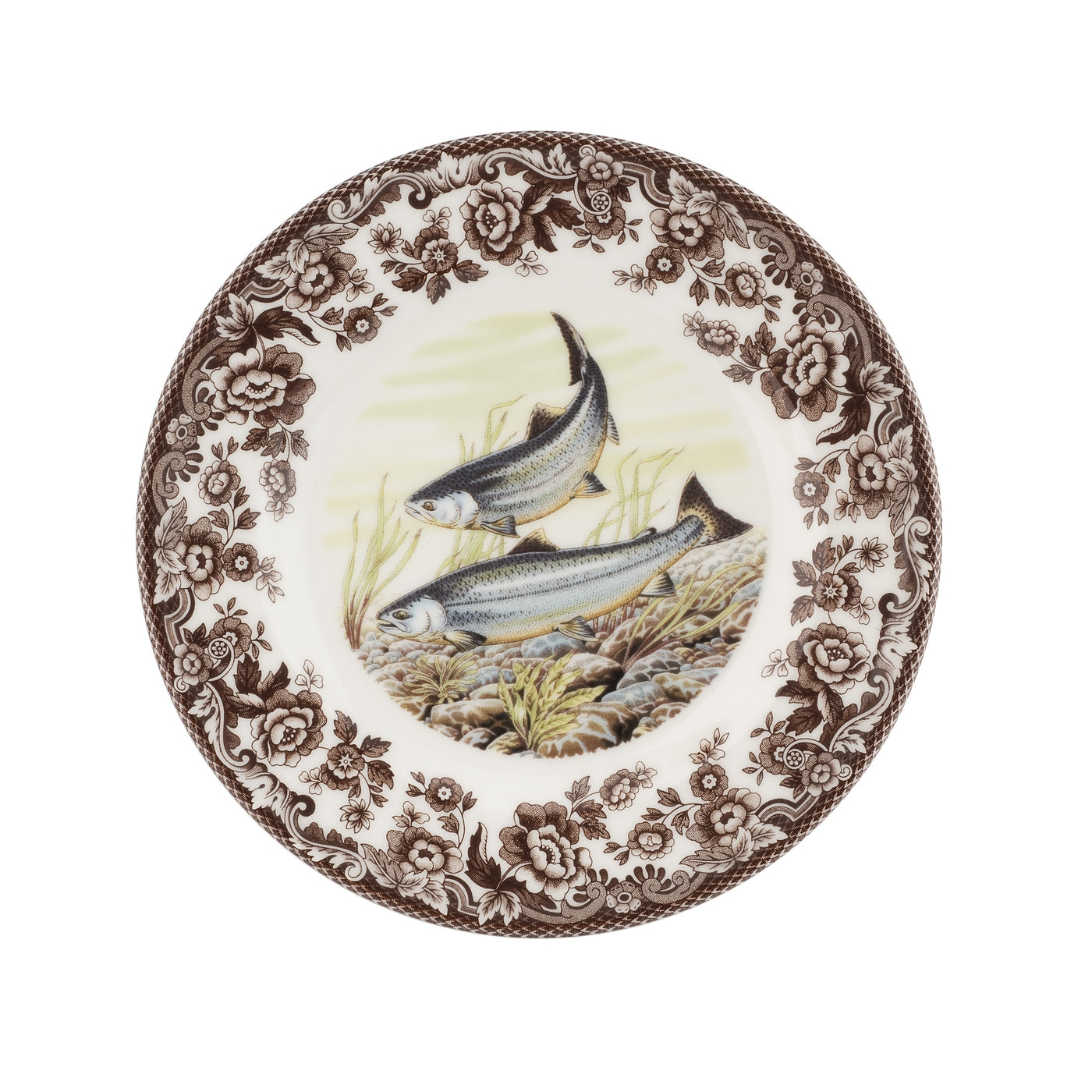 Spode Woodland Salad Plate 8 Inch (King Salmon)  image number 0