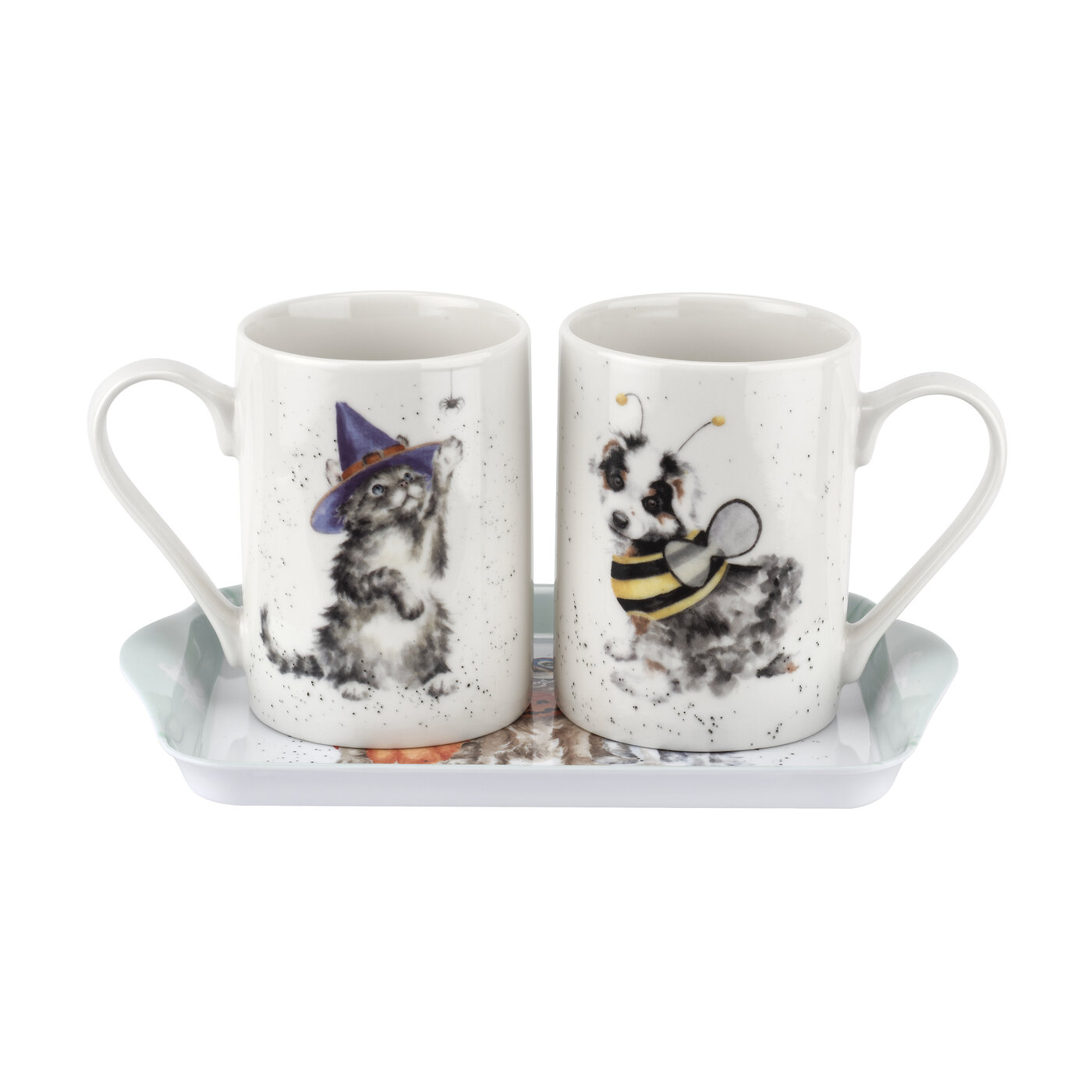 Pimpernel Wrendale Designs 3 Piece Mug & Tray Set (Trick or Treat) image number 0