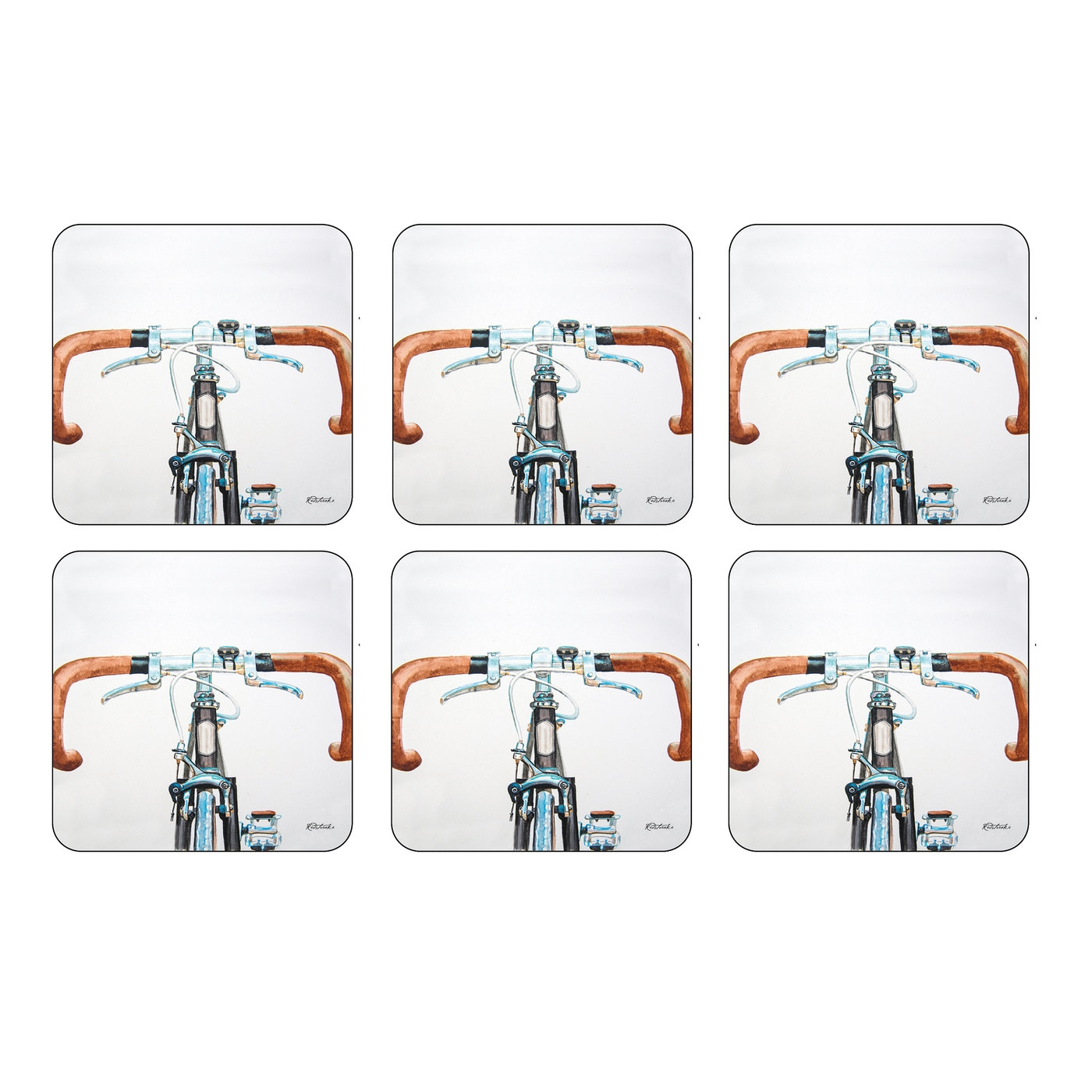 Pimpernel Bicycle Coasters Set of 6 image number 0