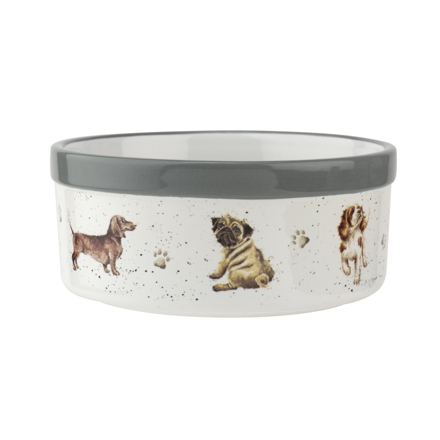 Royal Worcester Wrendale Designs 6 Inch Pet Bowl (Assorted Dogs) image number 0
