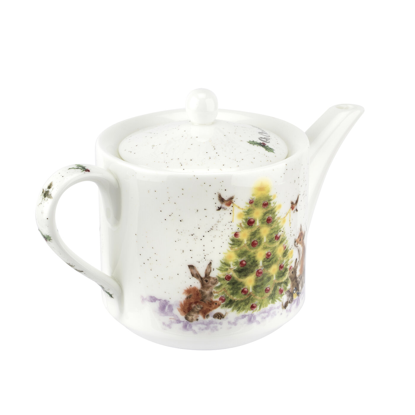 Royal Worcester Wrendale Designs Teapot 1 Pint (Oh Christmas Tree) image number 1