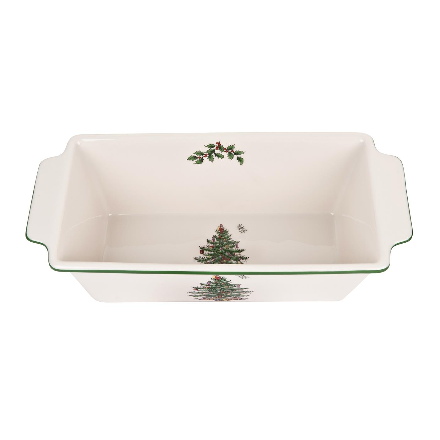 Spode Christmas Tree Loaf Pan image number 0