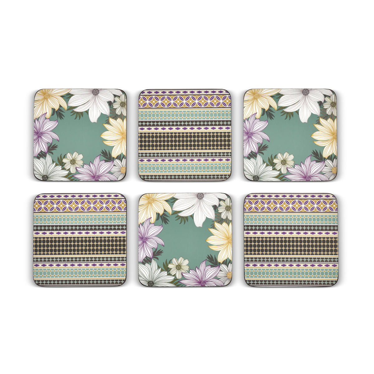 Pimpernel Atrium Coasters Set of 6 image number 2