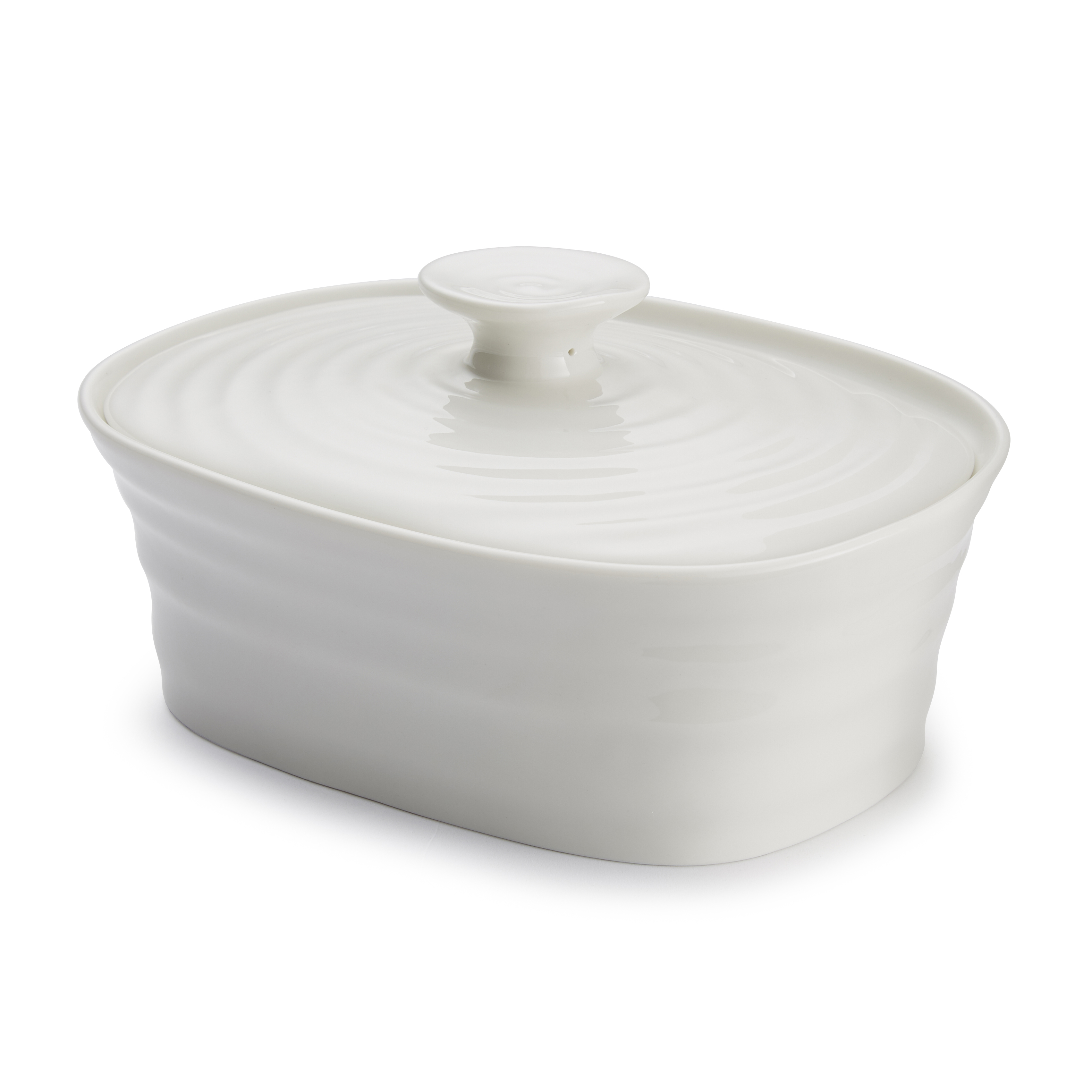 Portmeirion Sophie Conran White Covered Butter image number 1