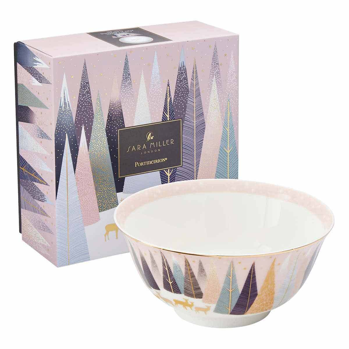 Sara Miller London for Portmeirion Frosted Pines 6 Inch Candy Bowl image number 3