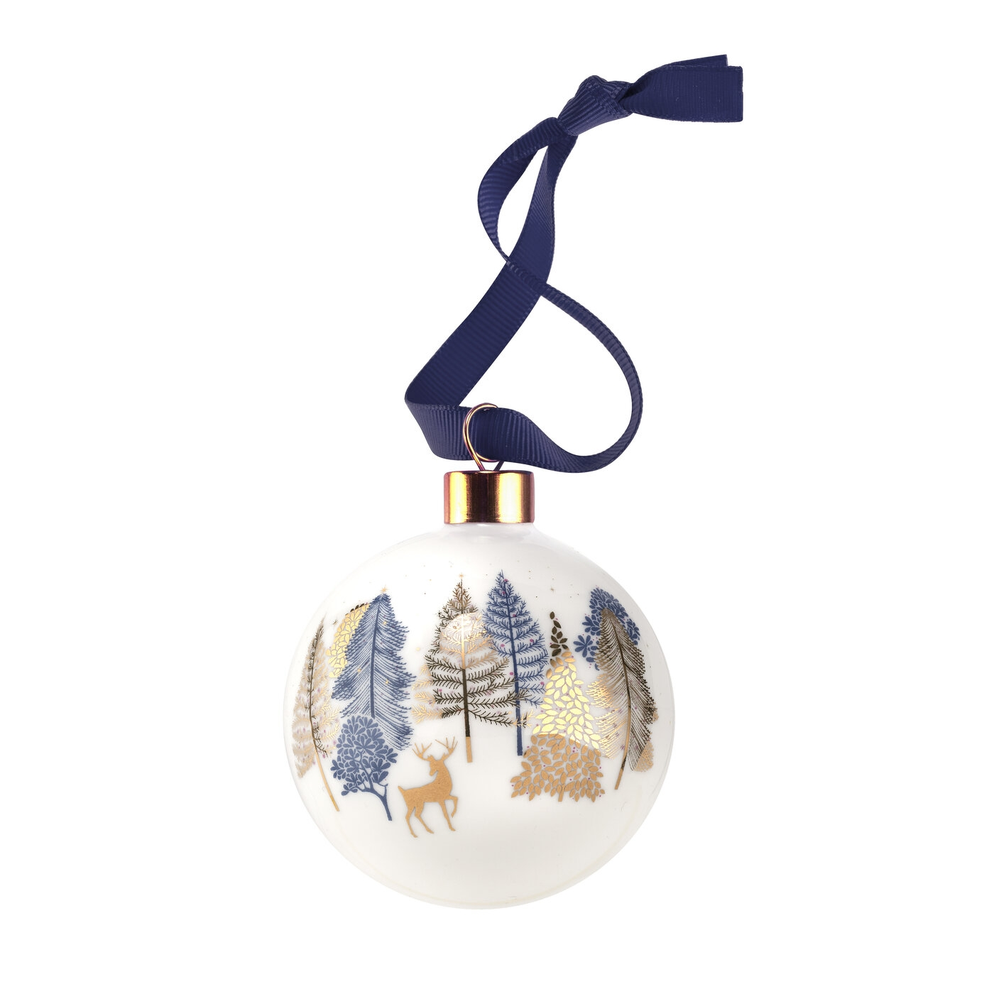 Sara Miller for Portmeirion Prancing Deer Bauble image number 0