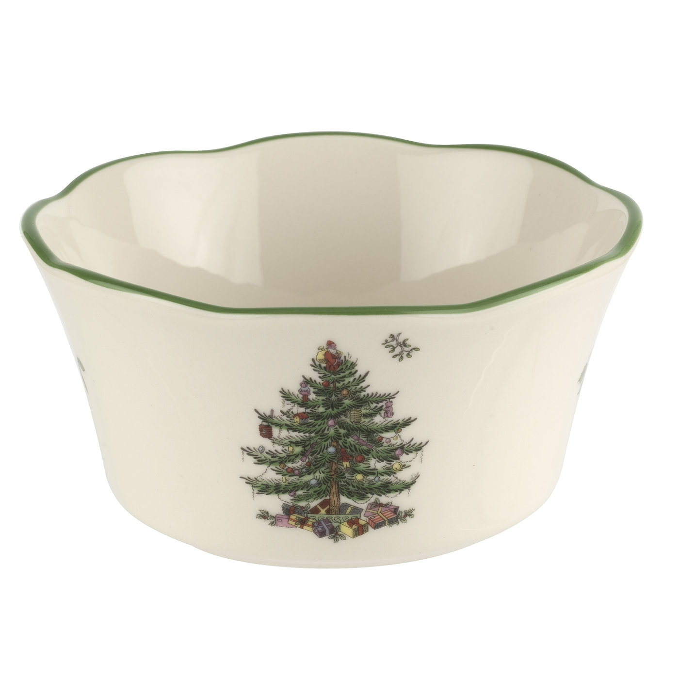 Spode Christmas Tree 4.5 Inch Scalloped Bowl image number 0