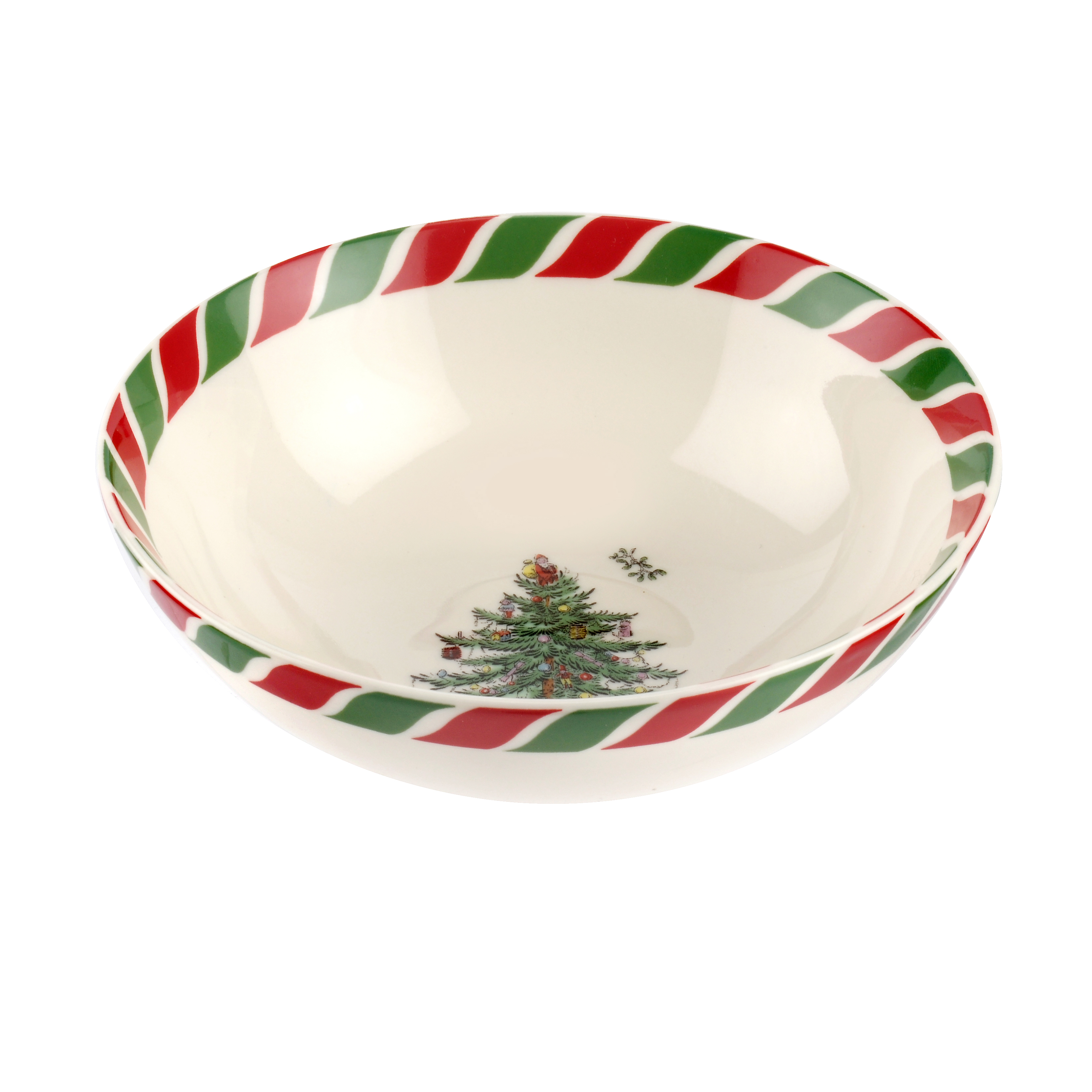 Spode Christmas Tree 6 Inch Candy Cane Bowl image number 0