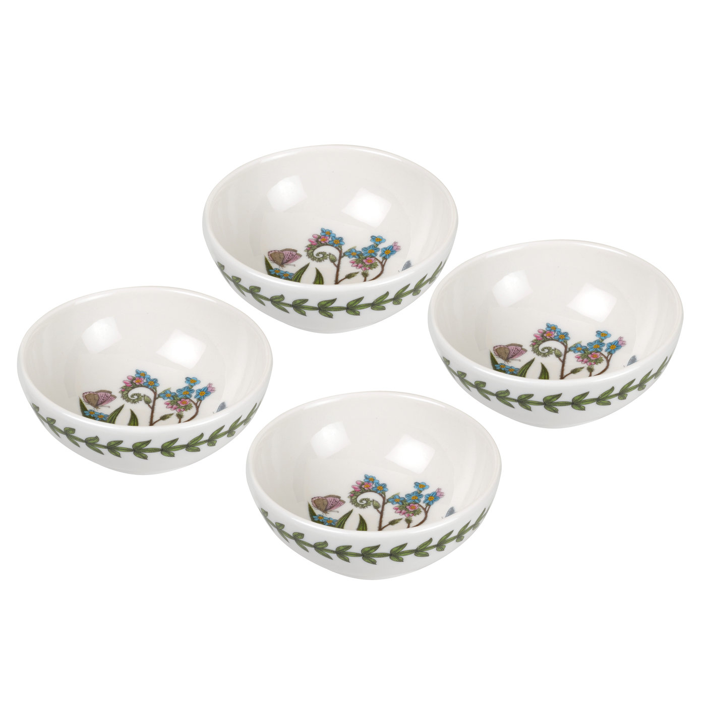 Botanic Garden Set of 4 Small Low Bowls (Forget-me not) image number 0