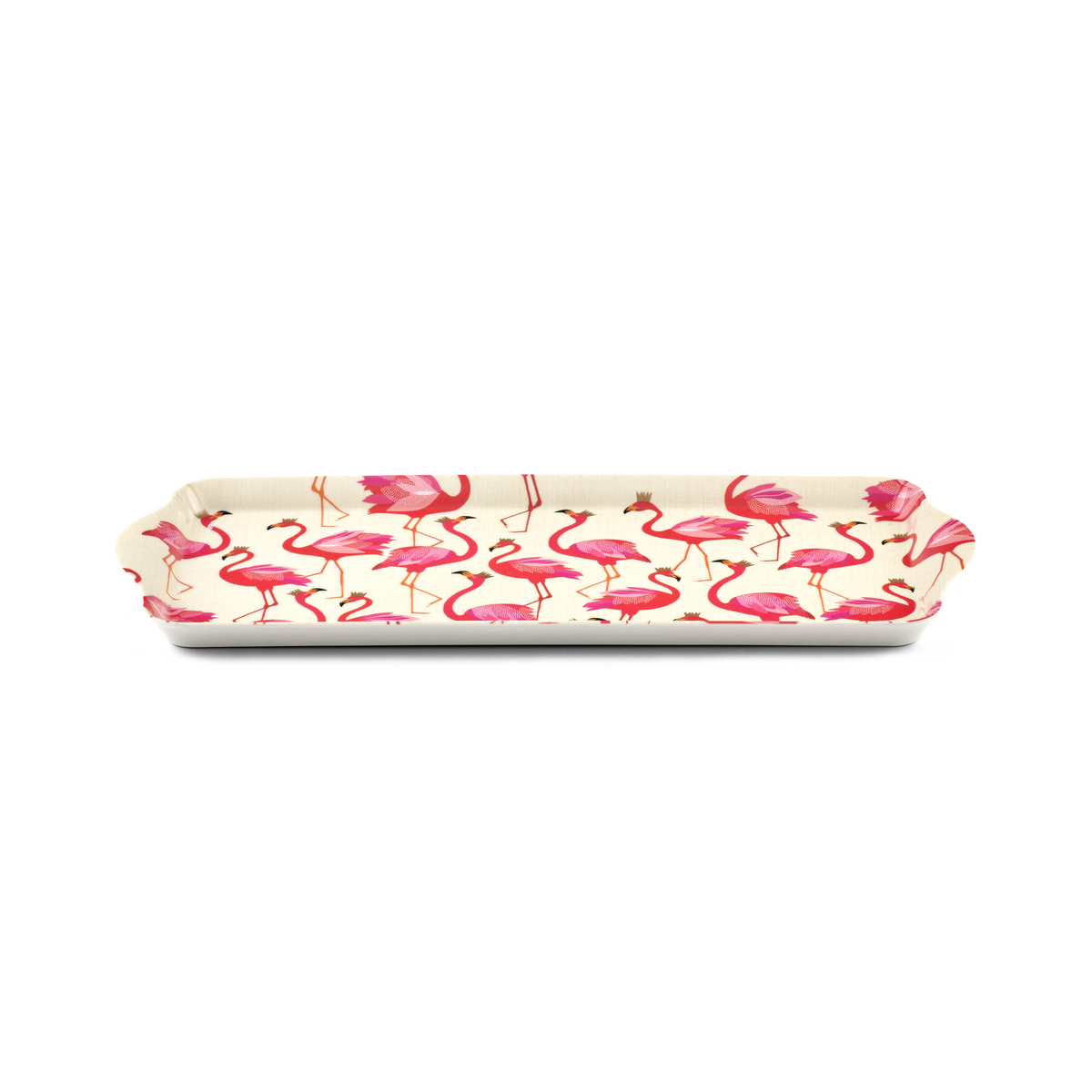 Sara Miller London for Pimpernel Flamingo  Melamine Sandwich Tray image number 1