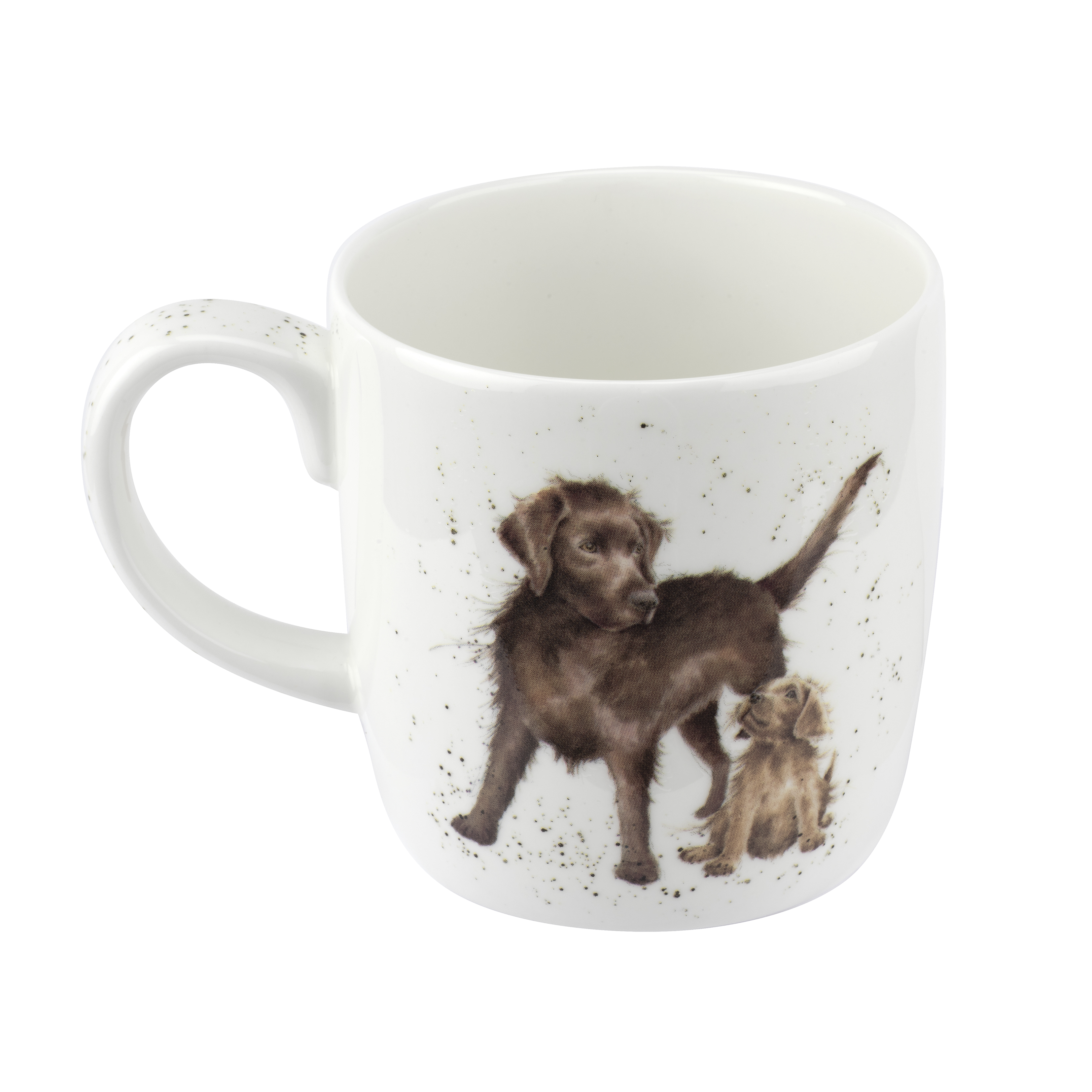 Royal Worcester Wrendale Designs Mug 14 Ounce Hopeful (Dog) image number 1