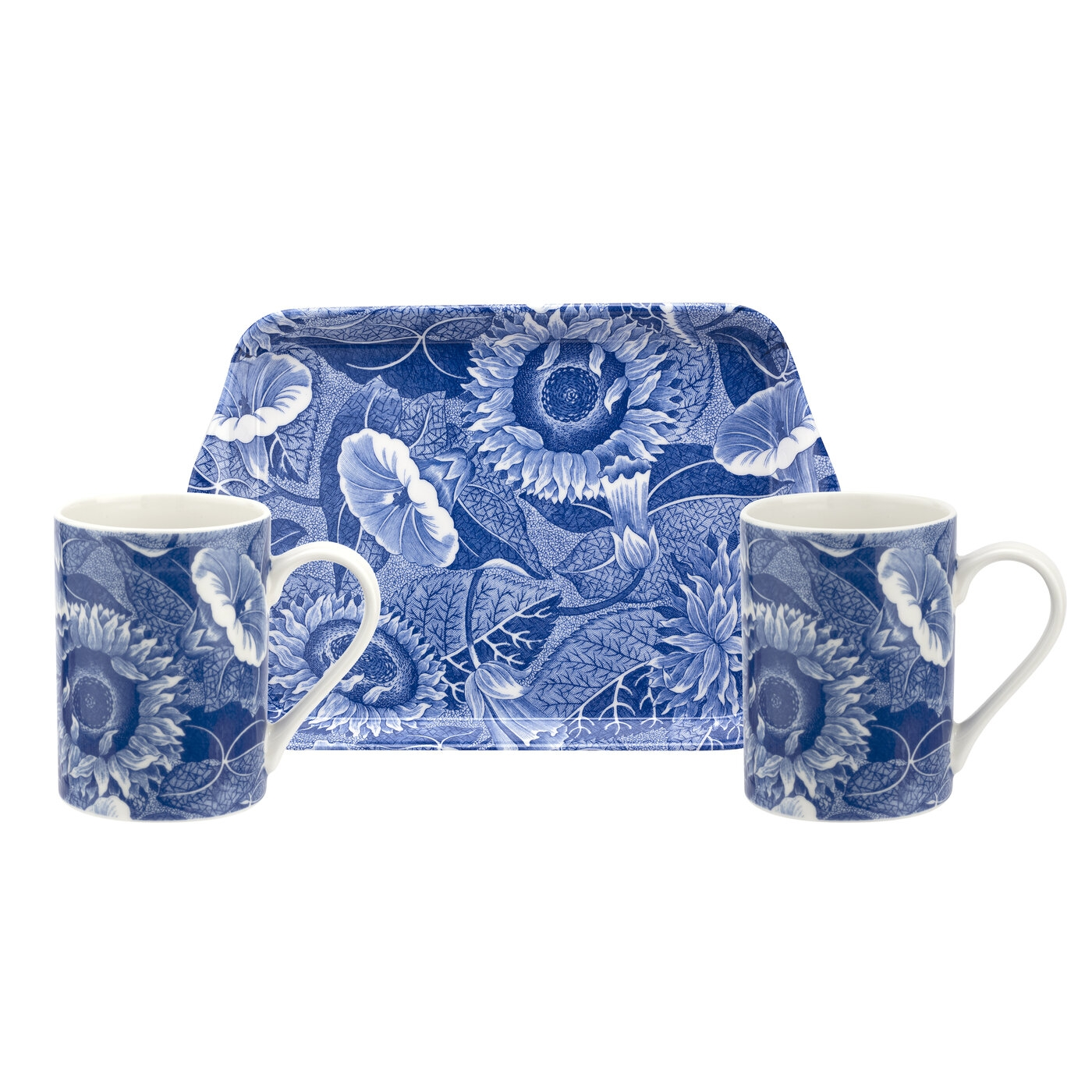 Pimpernel Blue Room Sunflower Set of 2 Mugs and Tray image number 0