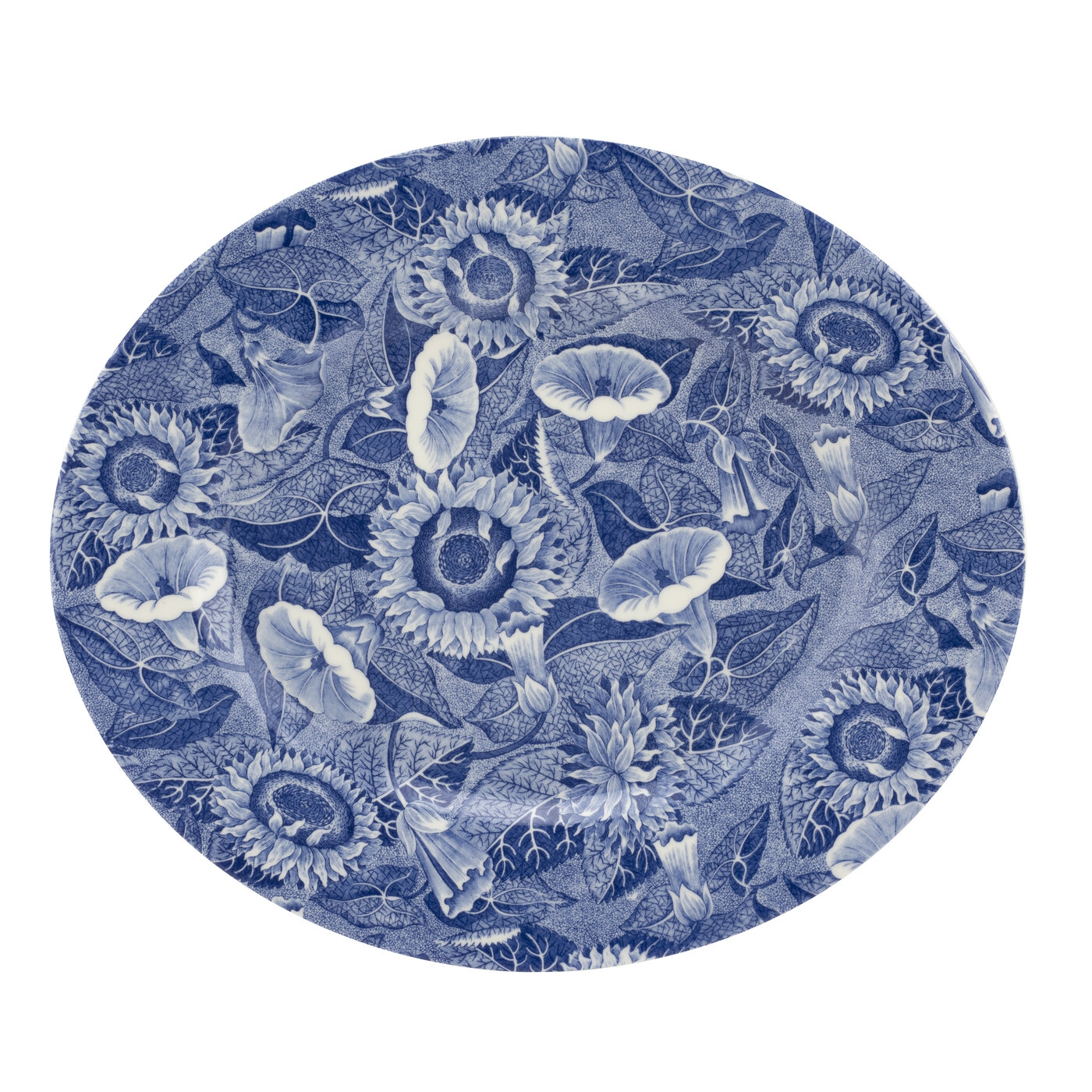 Spode Blue Room Sunflower 14 Inch Oval Platter image number 0