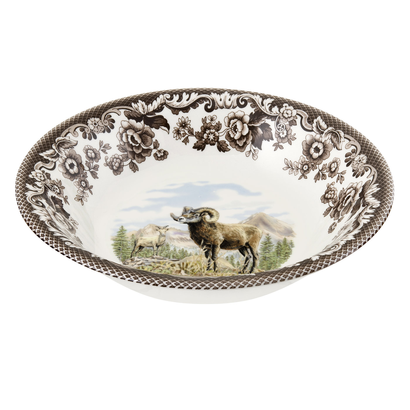 Spode Woodland Ascot Cereal Bowl 8 Inch (Bighorn Sheep) image number 0