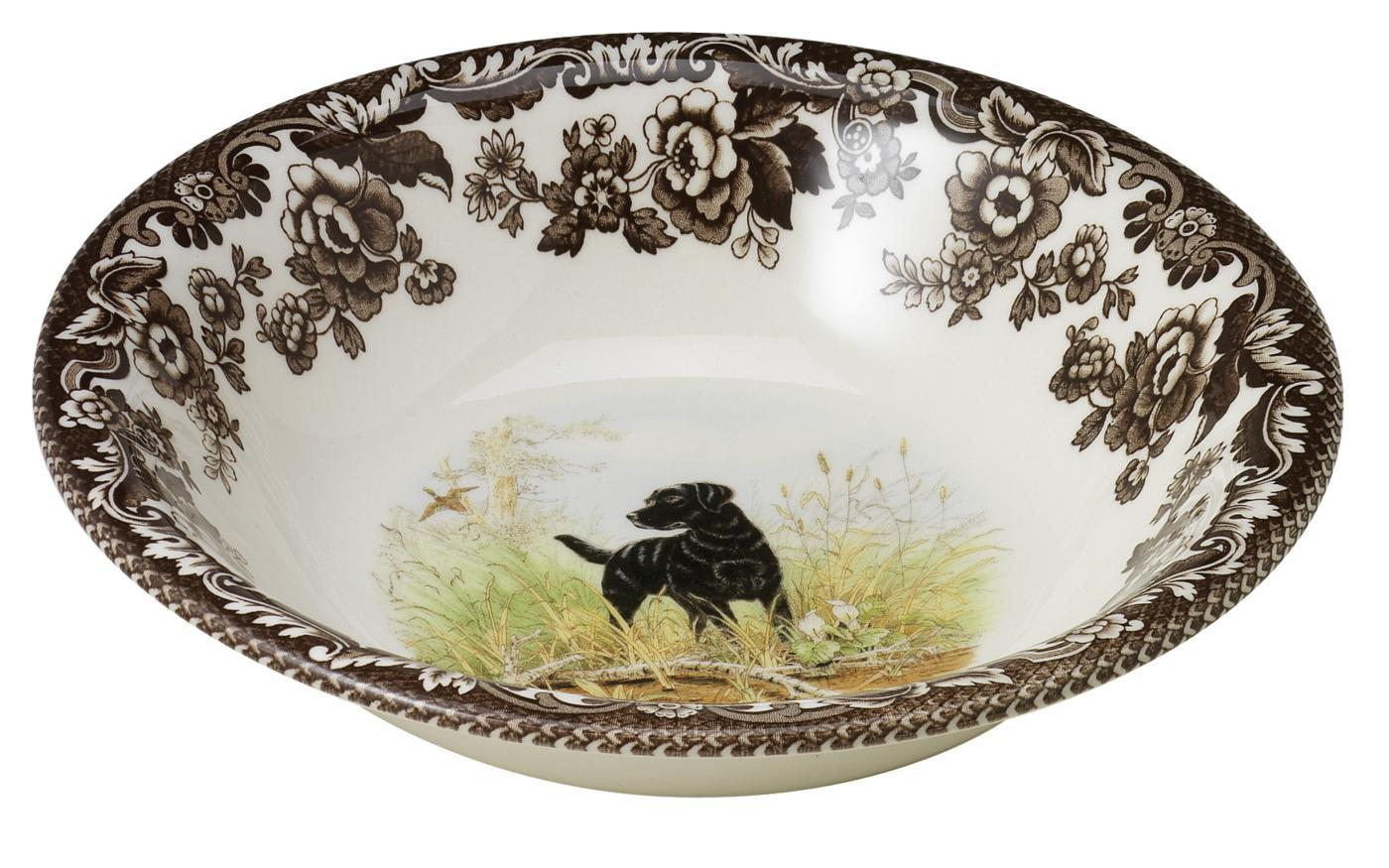Spode Woodland Ascot Cereal Bowl 8 Inch (Black Labrador Retriever) image number 0