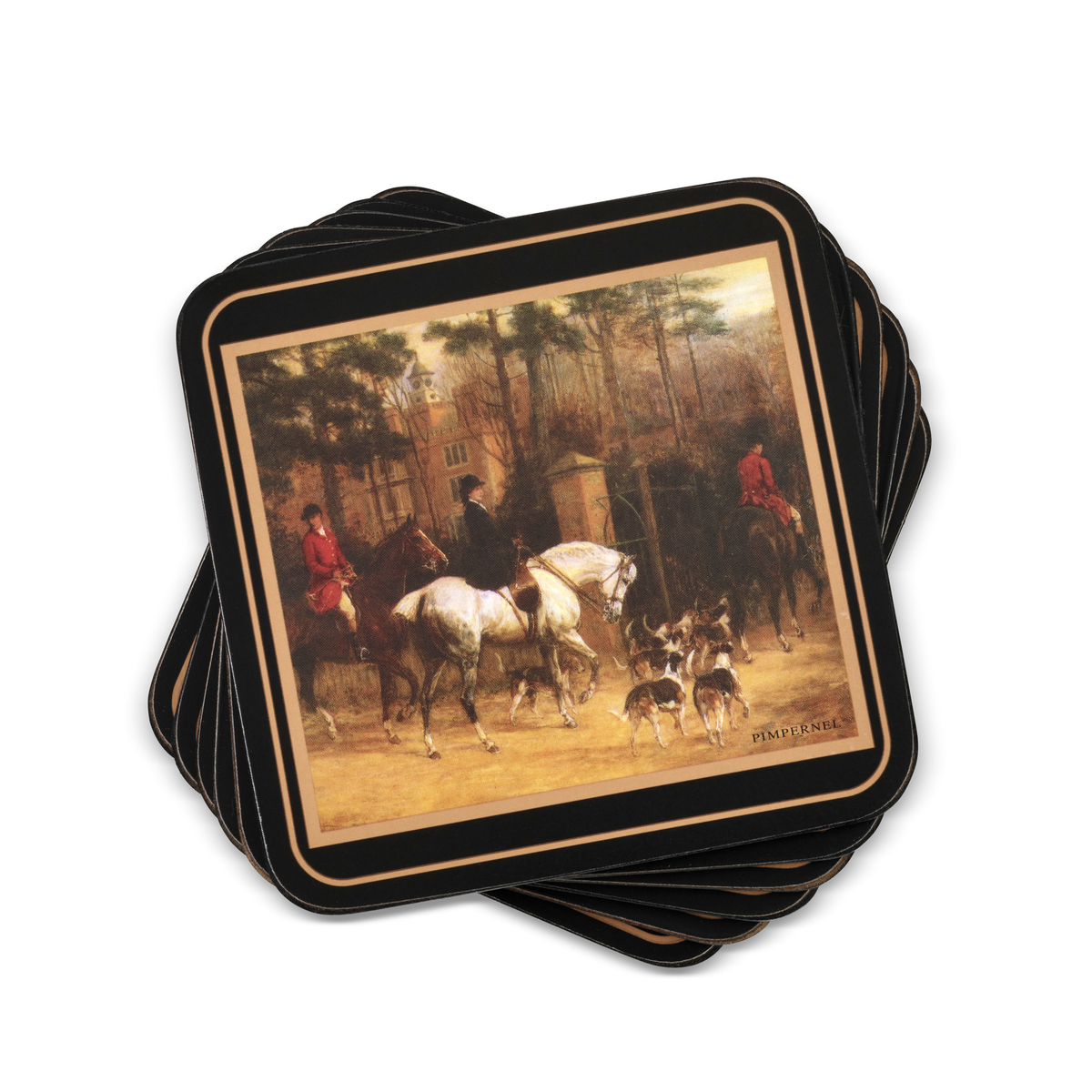 Pimpernel Tally Ho Coasters Set of 6 image number 0