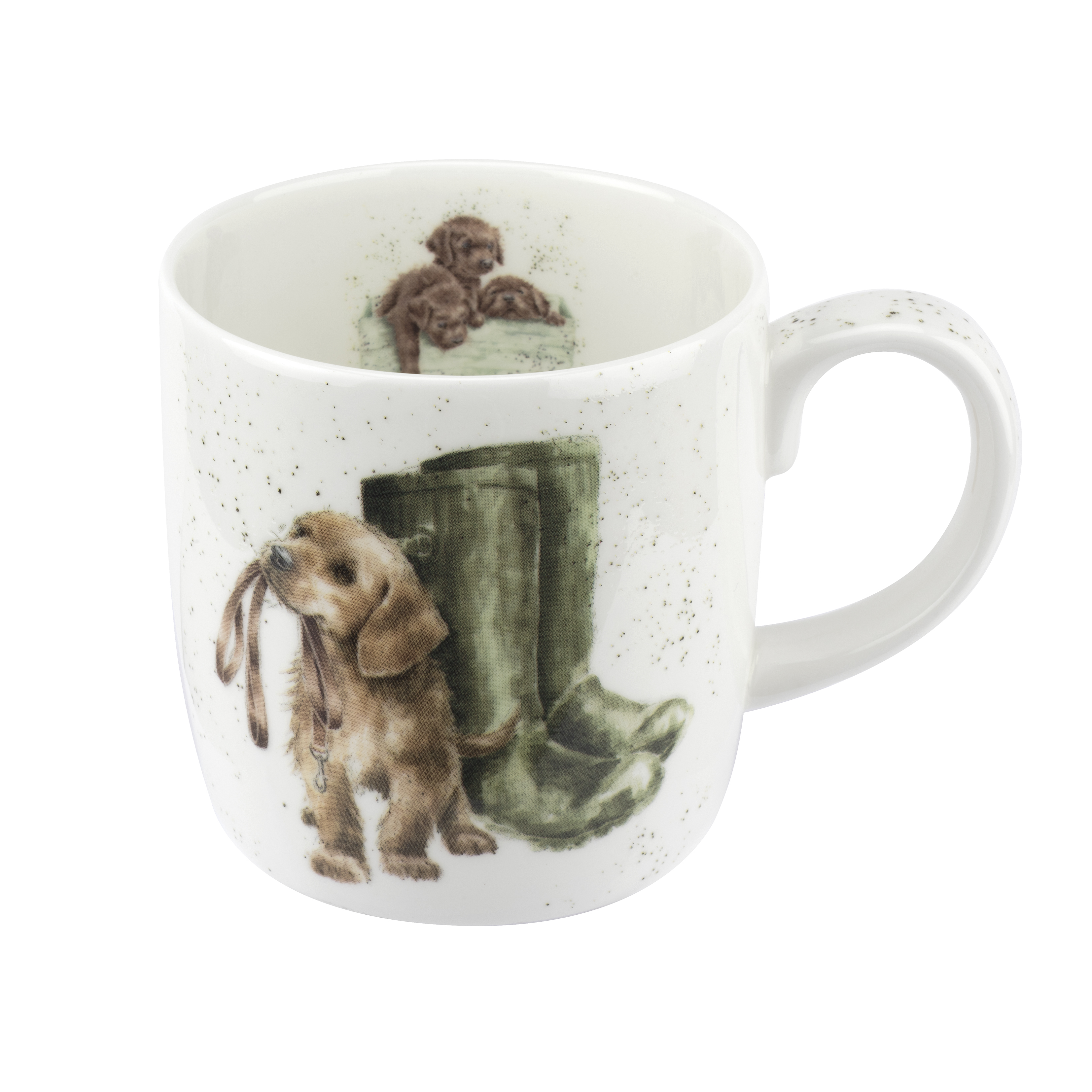Royal Worcester Wrendale Designs Mug 14 Ounce Hopeful (Dog) image number 0
