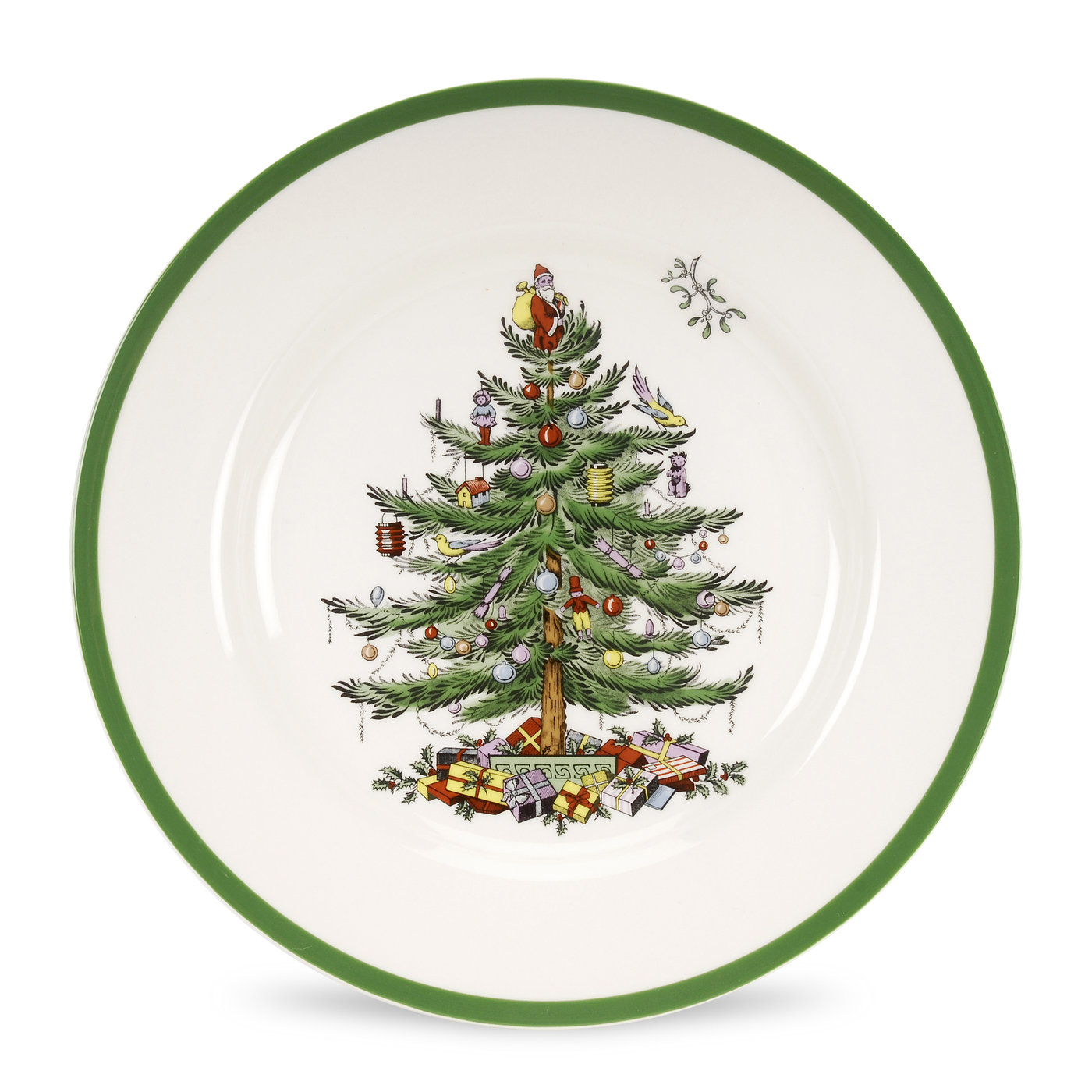 Spode Christmas Tree  Set of 12 Dinner Plates image number 0