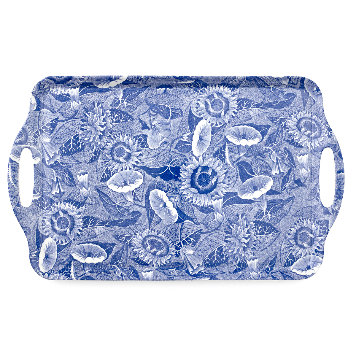 Pimpernel Blue Room Sunflower Large Melamine Handled Tray image number 0