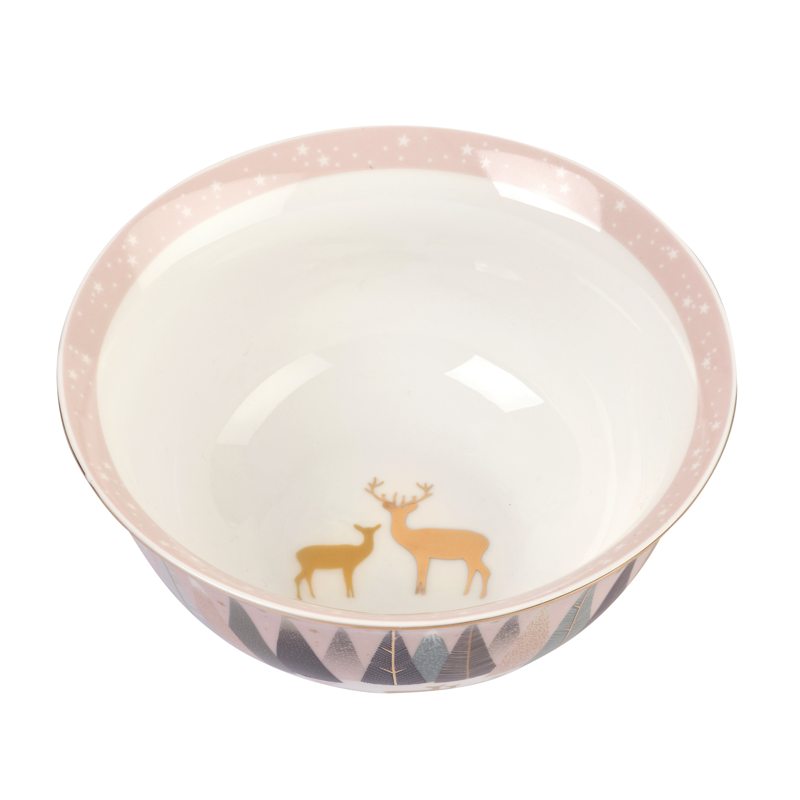 Sara Miller London for Portmeirion Frosted Pines 6 Inch Candy Bowl image number 1